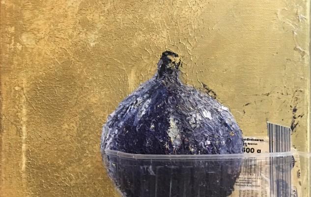 2015_SCHÖNE GOLDENE WARENWELT_FEIGE_30x30_Öl_auf_Leinwand_Collage