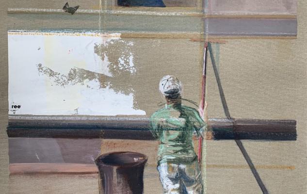 2018 Venice Worker Acryl on Canvas 80x60 cm