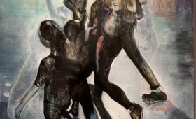 Micky Focke 2020 4 Graces Stoa 21 Mäßigung Moderation Communicate 120x80 Oil Print Canvas 2020